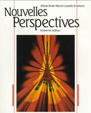 Cover of: Nouvelles perspectives