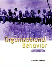 Cover of: Organzational Behavior