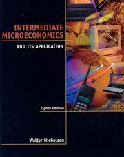 Cover of: Intermediate microeconomics and its application | Walter Nicholson