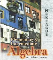 Cover of: Elementary and intermediate algebra: A Combined Course