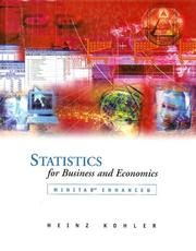 Cover of: Statistics for Business and Economics with MINITAB CD-ROM