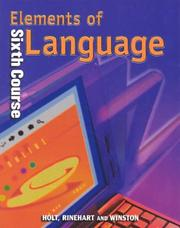 Cover of: Elements of Language | John E. Warriner