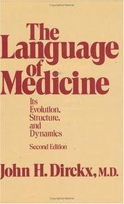 Cover of: The Language of Medicine
