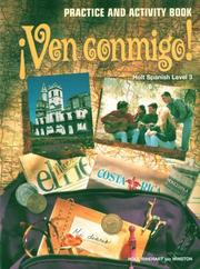 Holt rinehart and winston open library cover of ven conmigo fandeluxe Image collections