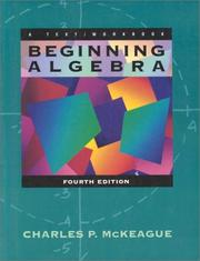 Cover of: Beginning Algebra: a text/workbook