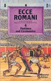 Cover of: Pastimes and Ceremonies (Ecce Romani)