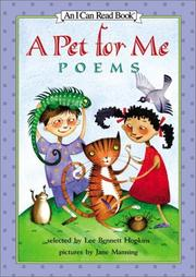 Cover of: A Pet for Me: Poems (I Can Read Book 3)