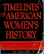Cover of: Timelines of American women's history by Sue Heinemann