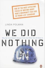 Cover of: We did nothing