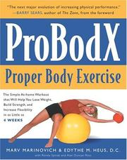 Cover of: ProBodX: Proper Body Exercise | Marv Marinovich