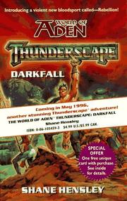 Cover of: Darkfall (Thunderscape, No 2) | Shane Lacy Hensley