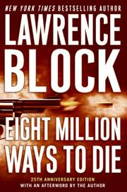 Cover of: Eight Million Ways to Die (Matthew Scudder Mysteries) | Lawrence Block