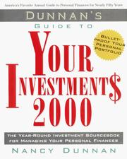 Cover of: Dunnan's Guide to Your Investment$ 2000