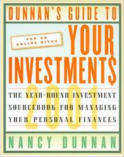Cover of: Dunnan's Guide To Your Investment$ 2001