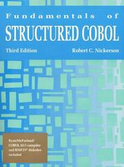 Fundamentals of structured COBOL by Robert C. Nickerson