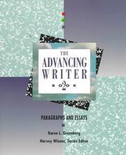 Cover of: Para graphs and essays