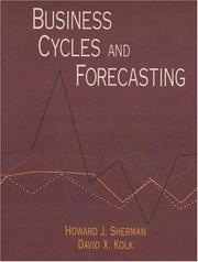 Cover of: Business cycles and forecasting