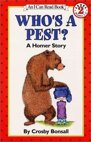 Whos a Pest? A Homer Story (I Can Read Book)