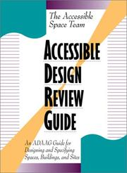 Cover of: Accessible Design Review Guide | Mary Joyce Hasell, Rocke Hill, James L. West, Tony R. White, Sara Katherine Williams
