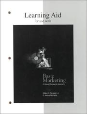 Cover of: Basic Marketing Learning Aid | William D. Perreault