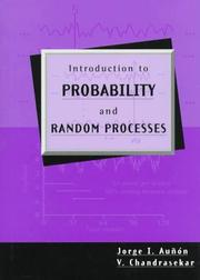 Cover of: Introduction to probability and random processes