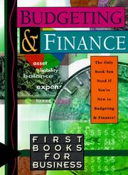 Budgeting and finance. by