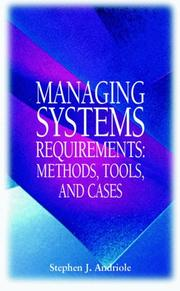 Cover of: Managing systems requirements