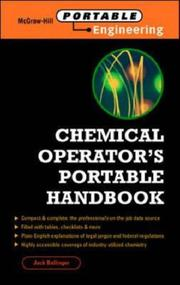 Cover of: Chemical Operator's Portable Handbook by Jack T. Ballinger