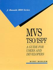 Cover of: MVS TSO/ISPF | Kurt Bosler