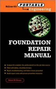 Cover of: Foundation Repair Manual (McGraw-Hill Portable Engineering)