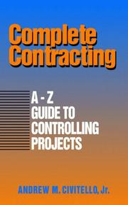 Cover of: Complete contracting