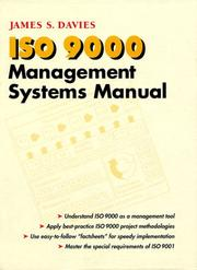 Cover of: ISO 9000 management systems manual