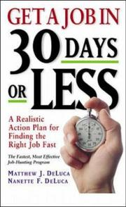 Cover of: Get a job in 30 days or less