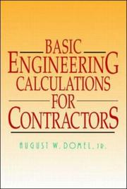 Cover of: Basic engineering calculations for contractors