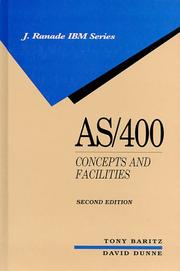 Cover of: AS/400--concepts and facilities | Tony Baritz
