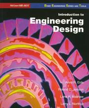 Cover of: Introduction to engineering design | Arvid R. Eide ... [et al.].