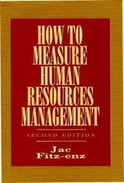 Cover of: How To Measure Human Resource Management | Jac Fitz-Enz