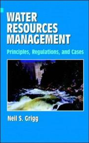 Cover of: Water resources management | Neil S. Grigg
