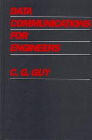 Cover of: Data communications for engineers | C. G. Guy
