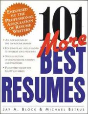 Cover of: 101 More Best Resumes