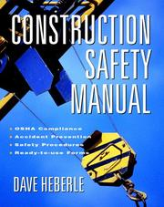 Cover of: Construction safety manual