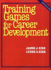 Cover of: Training games for career development