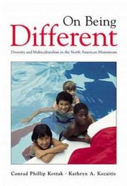 Cover of: On being different | Conrad Phillip Kottak