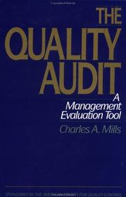 Cover of: The quality audit | Mills, Charles A.