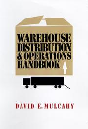 Cover of: Warehouse distribution and operations handbook