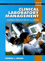 Cover of: Clinical Laboratory Management Handbook   | Donna L. Nigon