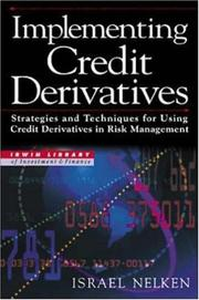 Cover of: Implementing Credit Derivatives | Israel Nelken
