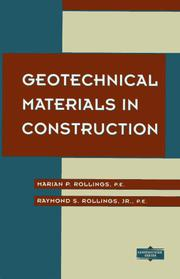 Cover of: Geotechnical Materials in Construction | Marion P. Rollings