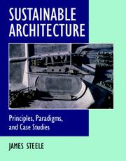 Cover of: Sustainable architecture: principles, paradigms, and case studies