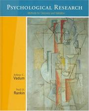 Cover of: Psychological research | Arlene C. Vadum